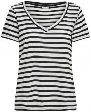 ONLY Striped Short Sleeved Top Women White