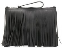 Gum - fringed clutch bag - women - PVC - OS - BLACK