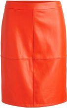 VILA Faux Leather Skirt Women Orange
