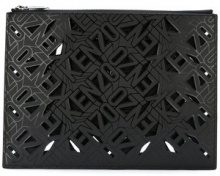 Kenzo - Flying Kenzo clutch - women - Cotton/Polyamide/Polyurethane - OS - BLACK