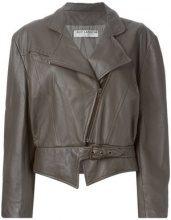 - Guy Laroche Vintage - Giacca biker - women - pelle - 42 - color marrone