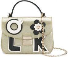 Furla - Candy embellished crossbody bag - women - Leather/PVC - One Size - METALLIC