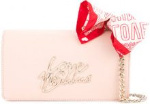 Love Moschino - bandana-detail crossbody bag - women - PVC - OS - PINK & PURPLE