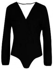 Hallie Wrap Long Sleeve Bodysuit