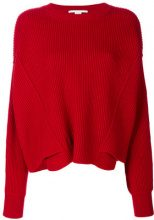 Stella McCartney - Maglione a coste - women - Wool - 42 - PINK & PURPLE
