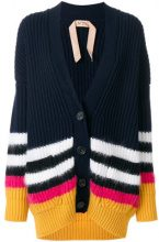 Nº21 - Cardigan a righe - women - Polyamide/Mohair/Wool/Virgin Wool - S - BLUE