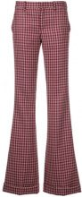 Miu Miu - Pantaloni a campana - women - Wool - 42 - RED