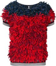 Miahatami - Top mezze maniche 'Gabbeh' - women - Wool/Acrylic - 42 - BLUE