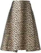 Antonio Marras - Gonna con stampa leopardata - women - Cotton/Acrylic/Polyamide/water - 42 - YELLOW & ORANGE