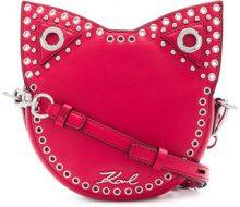 Karl Lagerfeld - Rocky Choupette crossbody bag - women - Leather - One Size - PINK & PURPLE