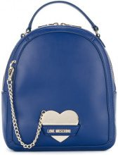 Love Moschino - chain-detail backpack - women - Polyurethane - OS - BLUE
