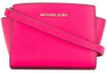 Michael Michael Kors - Borsa a tracolla 'Selma Mini' - women - Leather - One Size - PINK & PURPLE