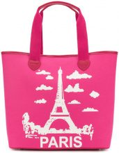 Twin-Set - Borsa Tote 'Paris' - women - Cotton/Polyester/Polyurethane - OS - PINK & PURPLE