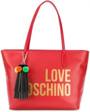 Love Moschino - Borsa tote con logo - women - Leather - OS - RED