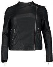 Eliza giacca stile motociclista in pelle sintetica trapuntata taglia forte