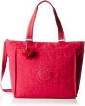 Kipling New Shopper L - Borse Tote Donna, Pink (Cherry C), 48.5x34x17.5 cm (W x H x L)