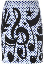 Jeremy Scott - polka dot skirt - women - Virgin Wool - 42 - MULTICOLOUR