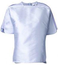 Carven - T-shirt a manica ampia - women - Silk/Polyester - 42 - PINK & PURPLE