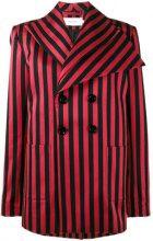 Marques'almeida - Blazer doppiopetto a righe - women - Cotton/Polyester/Viscose/Spandex/Elastane - S - BLACK
