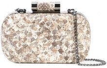 Inge Christopher - woven snake-effect minaudière - women - Leather - OS - NUDE & NEUTRALS