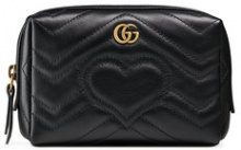 Gucci - Trousse 'GG Marmont' - women - Leather/Microfibre - One Size - BLACK