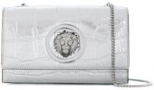 Versus - crocodile embossed Lion clutch - women - Leather - One Size - METALLIC