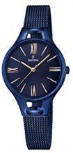 Orologio Da Donna Quarzo Festina display Analogico cinturino Placcato in acciaio inox Blu e quadrante Blu  F16953/2
