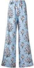 Scrambled_Ego - Pantaloni con stampa floreale - women - Silk - S - BLUE