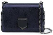 Jimmy Choo - Petite 'Lockett' leather shoulder bag - women - Leather/Suede - One Size - BLUE