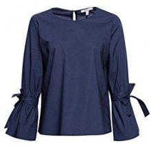 ESPRIT 028ee1f008, Camicia Donna, Blu (Navy 400), 44 (Taglia Produttore: 38)