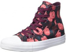 Converse Chuck Taylor all Star, Sneaker a Collo Alto Donna, Mehrfarbig (Dark Sangria/Pink/White), 39 EU