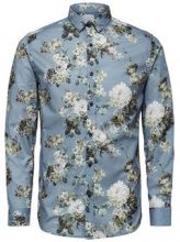SELECTED Flower Printed - Shirt Men Grey