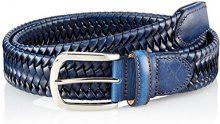 Hackett Elastic Plait Belt, Cintura Uomo, Blu (5cxnavy/Brown), Medium
