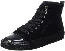 Calvin Klein Debby Velvet, Sneaker Donna, Nero (Black), 36 EU