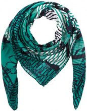 Tom Tailor Flower Square Scarf, Cappello in Felto Donna, Verde (Ecuador Green 7793), Taglia unica