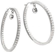 Diamonfire–Orecchini ad anello, in argento Sterling 925e zirconi Classic linea bianco 62/1411/1/082