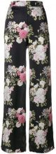 Pink Memories - Pantaloni a palazzo - women - Viscose/Silk - 42 - BLACK