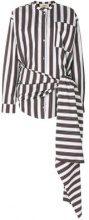 Ports 1961 - Camicia annodata sul davanti - women - Cotton/Silk - 42 - WHITE