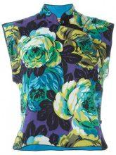 Kenzo Vintage - floral print top - women - Cotton - 42 - BLUE