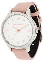 Karl Lagerfeld - Orologio 'Karo' - women - Leather/stainless steel - OS - PINK & PURPLE
