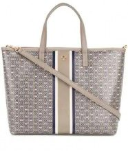 Tory Burch - printed tote bag - women - Leather - One Size - Grigio