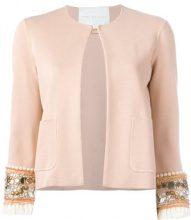 Giada Benincasa - embellished sleeve jacket - women - Spandex/Elastane/Viscose/PVC - S - PINK & PURPLE