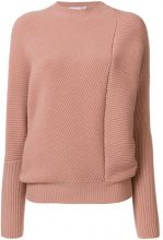 Stella McCartney - Maglia con pieghe asimmetriche - women - Wool - 42 - PINK & PURPLE