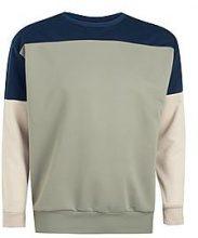 Big And Tall Colour Block Sweatshirt