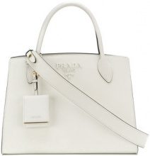 Prada - Tote Bibliotheque - women - Calf Leather - One Size - WHITE