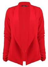 Brooke Ruched Sleeve Shawl Collar Blazer