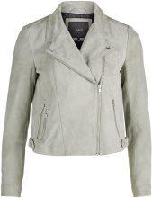 Y.A.S Suede Biker Leather Jacket Women Green