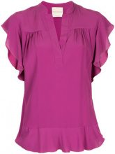 Erika Cavallini - Blusa increspata - women - Acetate/Silk - 48 - PINK & PURPLE