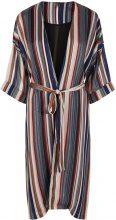 Y.A.S Striped Lurex Kimono Women Blue