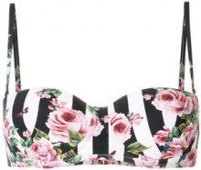 Dolce & Gabbana - printed balconette bikini top - women - Polyamide/Polyester/Polyurethane/Spandex/Elastane - 4 - BLACK